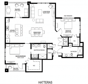 Senior living is living large in the Hatteras floor plan at Trinity Landing