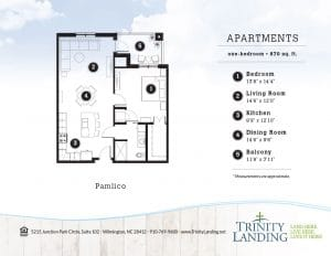 Enjoy a big lifestyle in the Pamlico apartment home at Trinity Landing