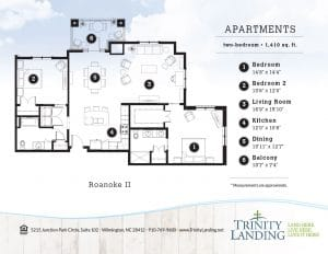 The Roanoke II residence at Trinity Landing is a spacious retreat for active living.