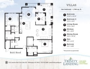 If you're looking for a larger residence, take a look at the Bald Head villa at Trinity Landing!