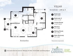 The Rodanthe Villa at Trinity Landing is a 1,260 sq ft space ideal for your coastal lifestyle.