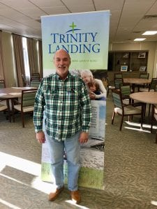 Burnie made a reservation deposit at Trinity Landing and secured his future!