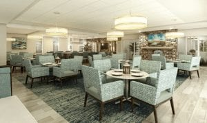The pub, one of the more casual dining options at Trinity Landing, is a great place to spend an evening with friends or family, watch the game or more.