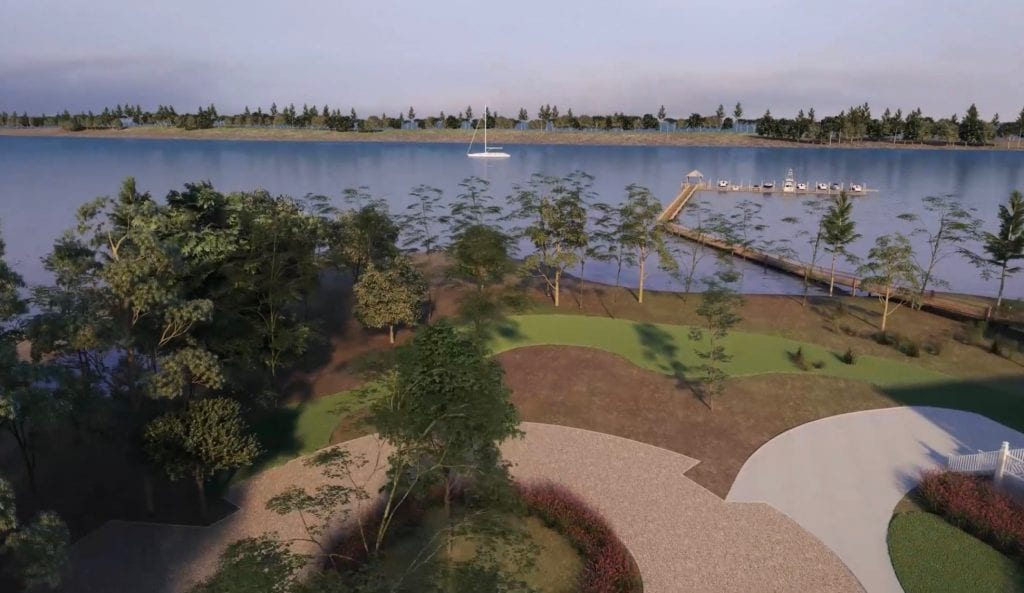 Digital rendering of the Trinity Landing grounds