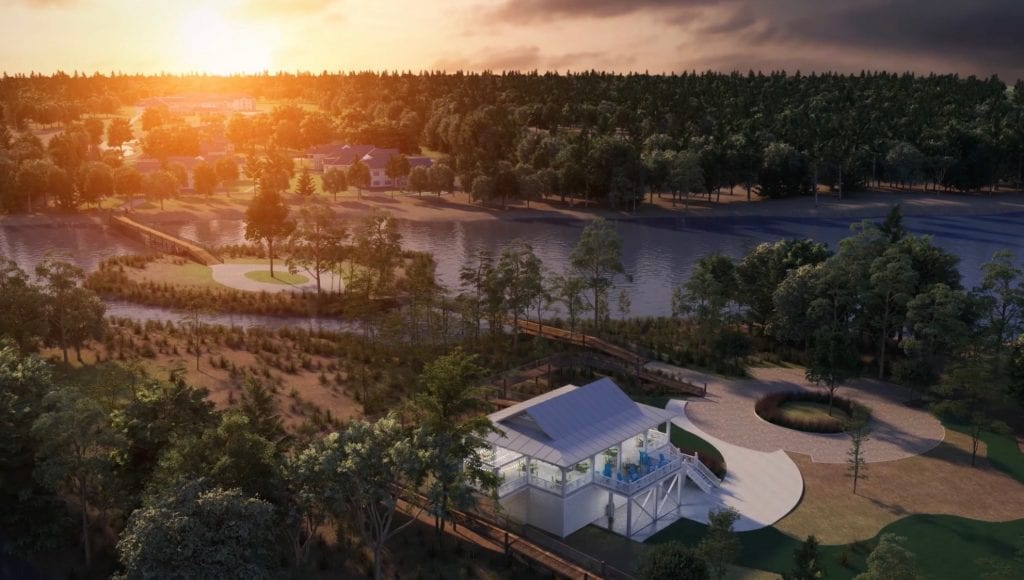 Digital rendering of the Trinity Landing grounds, along the Intracoastal Waterway.