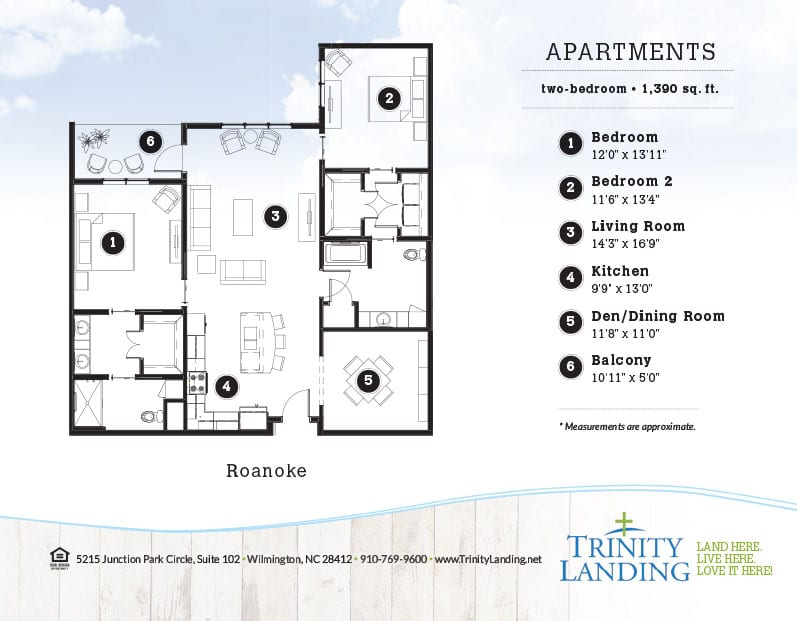 The Roanoke, one of the popular floor plans at Trinity Landing