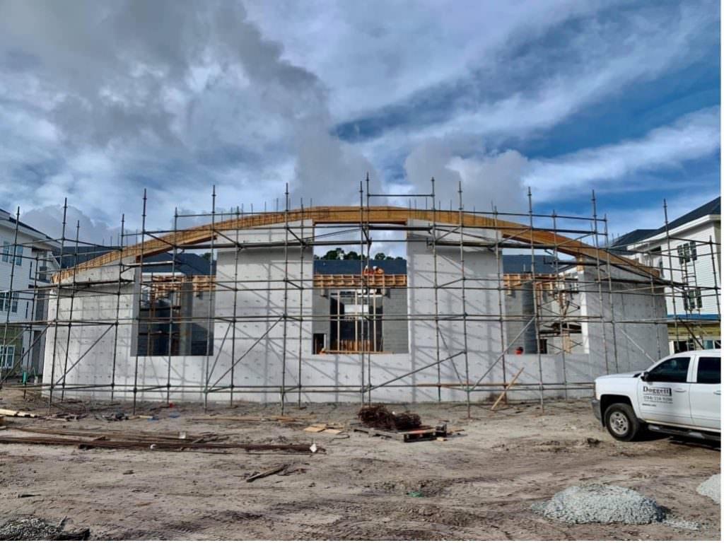 trinity landing construction of saltwater wellness center