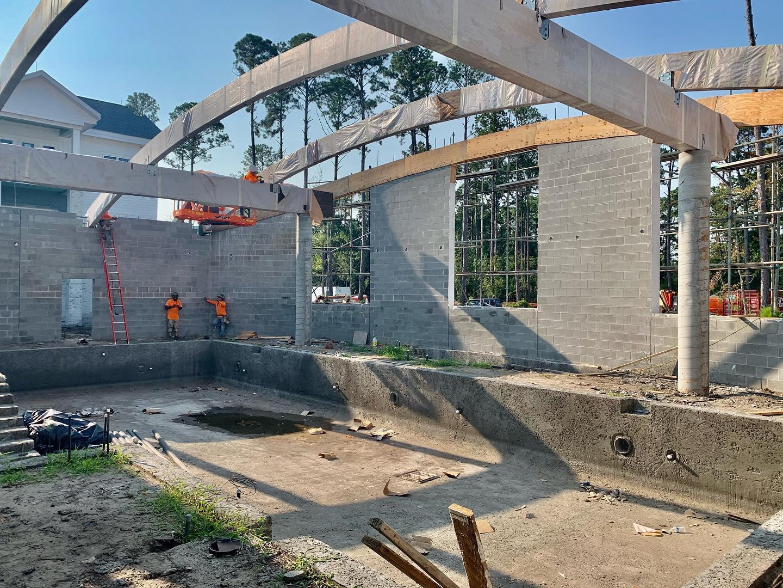 Pool Construction Progress